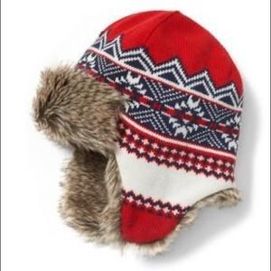 Janie and Jack Fair Isle Trapper Hat, 4 To 5 NEW